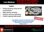 How Server Virtualization is Breaking Disk Backup