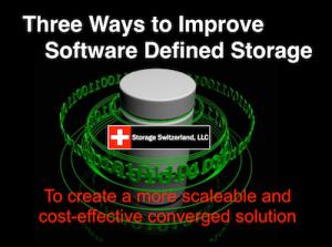 Three Ways To Improve Software Defined Storage