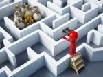 3D Man Money Maze Business Analytics