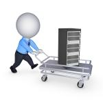Server on pushcart.