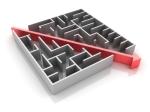 line-through-maze