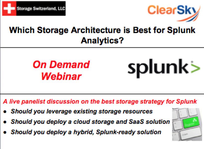 Webinar: Which Storage Architecture is Best for Splunk