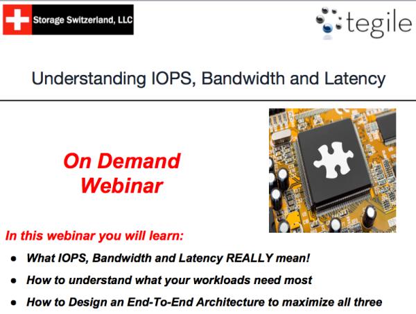 Webinar: Understanding IOPS, Bandwidth and Latency