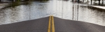 Road closed from high water flooding.