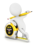 3d white people measuring tape, isolated white background, 3d image