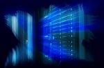 futuristic design art design of mainframe in the data center